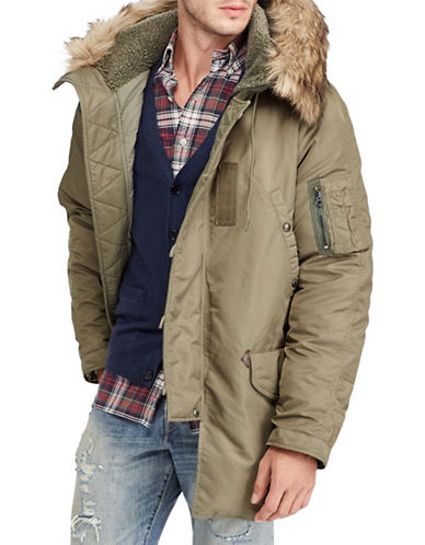 Polo Ralph Lauren Faux Fur-Trimmed Snorkel Parka-GREEN-XX-Large
