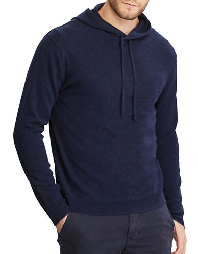 Polo Ralph Lauren Washable Cashmere Hoodie-BLUE-X-Large