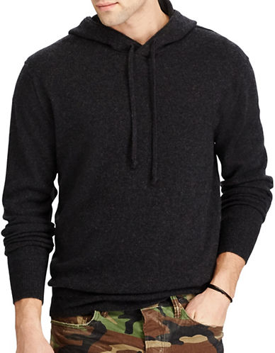 Polo Ralph Lauren Washable Cashmere Hoodie-DARK GREY-Small
