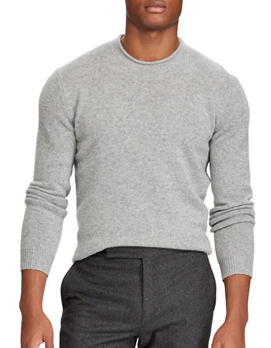 Polo Ralph Lauren Washable Cashmere Sweater-GREY-Large