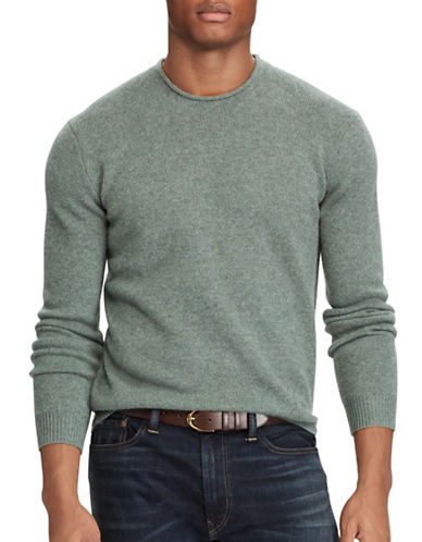 Polo Ralph Lauren Washable Cashmere Sweater-GREEN-X-Large