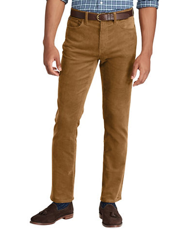 Polo Ralph Lauren Varick Slim Straight Pants-BROWN-34X32