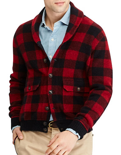 Polo Ralph Lauren The Iconic Skeet Cardigan-RED-Large