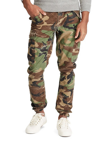 Polo Ralph Lauren Modern M43 Camo Cotton Cargo Pants with Corozo Buttons-GREEN-36X30