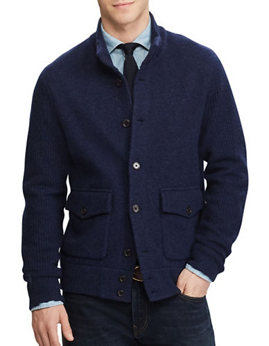 Polo Ralph Lauren Skeet Cardigan-BLUE-Large