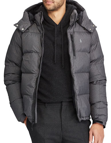 Polo Ralph Lauren Quilted Ripstop Down-Filled Jacket-GREY-Large