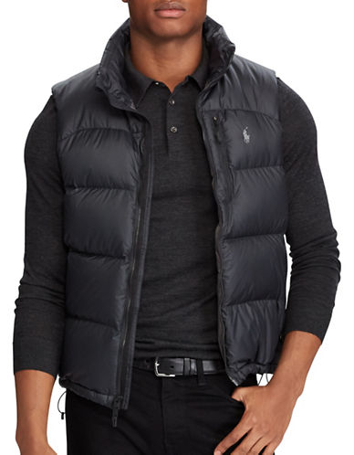 Polo Ralph Lauren Water-Repellent Down-Filled Vest-BLACK-X-Large