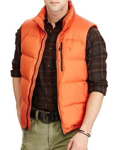 Polo Ralph Lauren Water-Repellent Down-Filled Vest-ORANGE-Medium