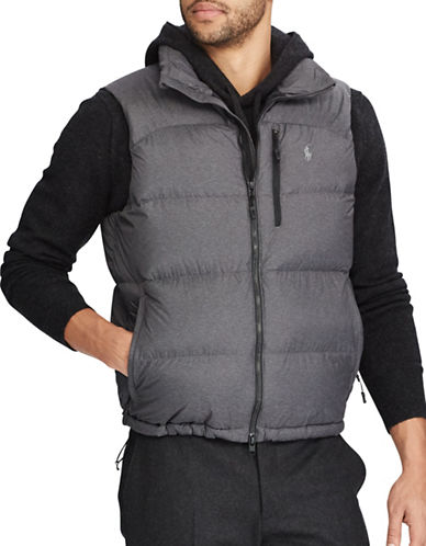 Polo Ralph Lauren Water-Repellent Down-Filled Vest-GREY-Small