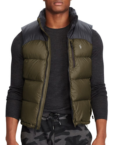 Polo Ralph Lauren Water-Repellent Down-Filled Vest-BLACK-Small