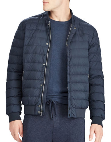 Polo Ralph Lauren Matte Stretch Packable Down Jacket-BLUE-Medium 89449874_BLUE_Medium