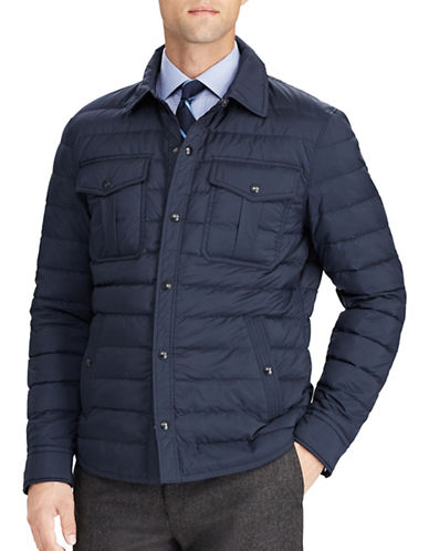 Polo Ralph Lauren Quilted Down Collared Jacket-NAVY-Large