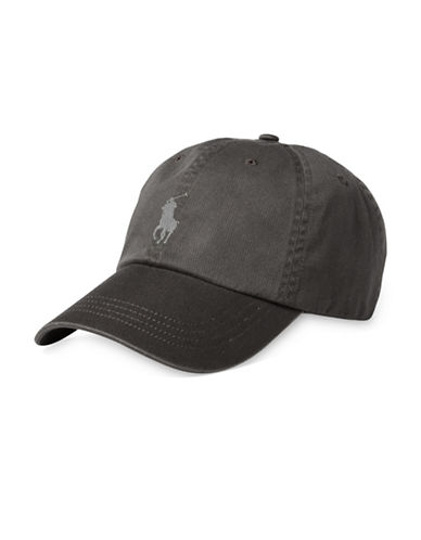 Polo Ralph Lauren Classic Chino Sports Cap-GREY-One Size