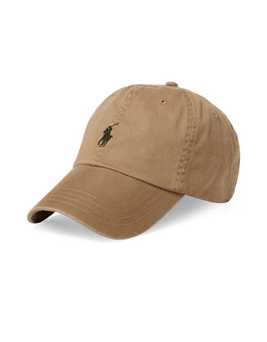 Polo Ralph Lauren Classic Chino Sports Cotton Baseball Cap-BEIGE-One Size