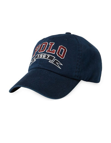 Polo Ralph Lauren Signature Sports Cap-NAVY-One Size