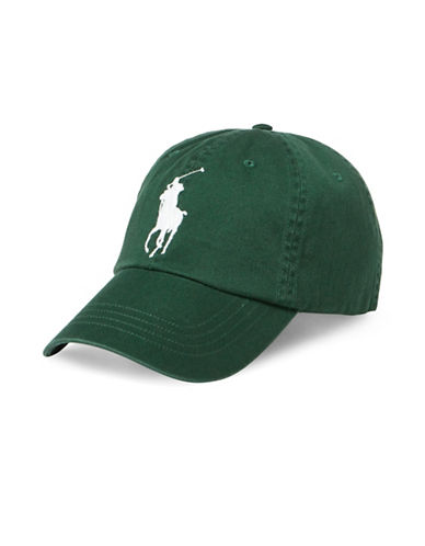 Polo Ralph Lauren Athletic Twill Cap-GREEN-One Size