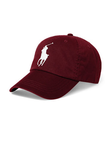 Polo Ralph Lauren Athletic Twill Cap-RED-One Size