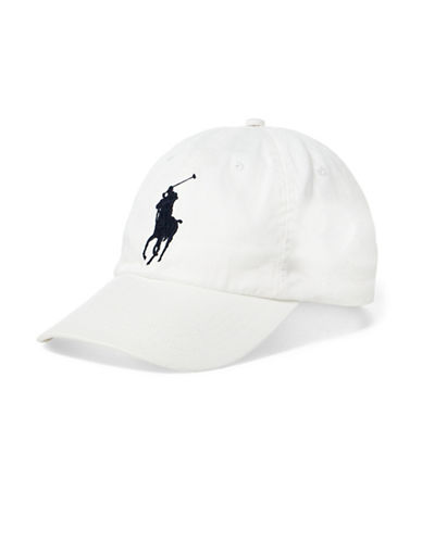 Polo Ralph Lauren Athletic Twill Cap-WHITE-One Size