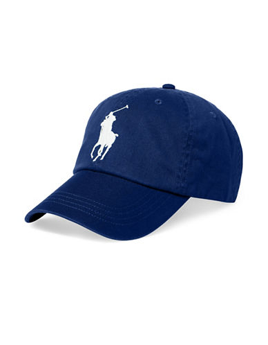 Polo Ralph Lauren Athletic Twill Cap-BLUE-One Size