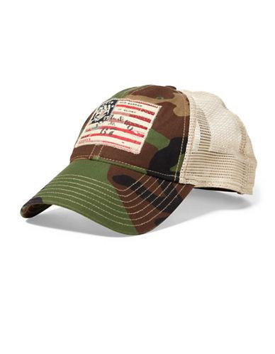 Polo Ralph Lauren Camo Trucker Hat-GREEN-One Size