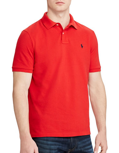 Polo Ralph Lauren Classic-Fit Mesh Polo-RED-Small
