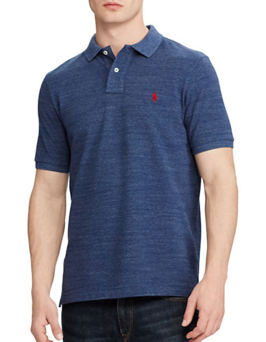 Polo Ralph Lauren Classic-Fit Mesh Polo-BLUE-Small