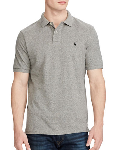Polo Ralph Lauren Classic-Fit Mesh Polo-GREY-Medium