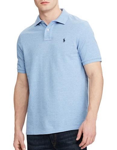 Polo Ralph Lauren Classic-Fit Mesh Polo-LIGHT BLUE-Large