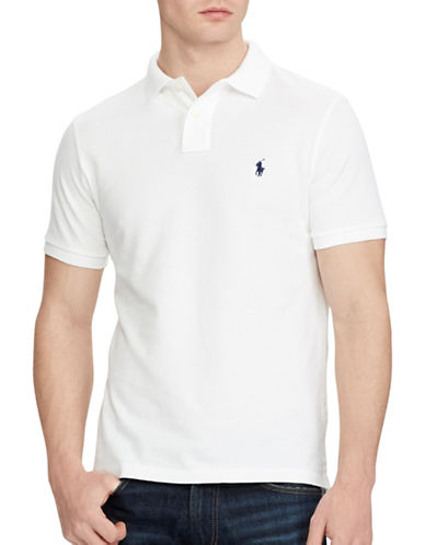 Polo Ralph Lauren Custom Slim Fit Mesh Polo-WHITE-X-Large