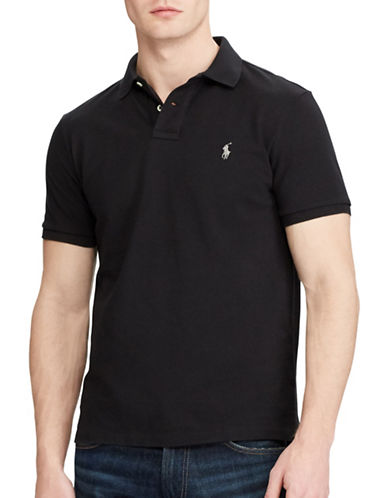 Polo Ralph Lauren Custom Slim Fit Mesh Polo-POLO BLACK-X-Large