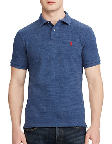 Polo Ralph Lauren Custom Slim Fit Mesh Polo-CLASSIC ROYAL-X-Large