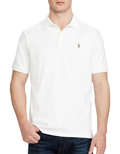 Polo Ralph Lauren Classic Fit Cotton Soft-Touch Polo-WHITE-Medium
