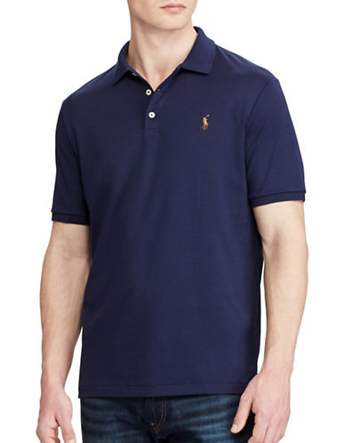 Polo Ralph Lauren Classic Fit Cotton Soft-Touch Polo-FRENCH NAVY-XX-Large