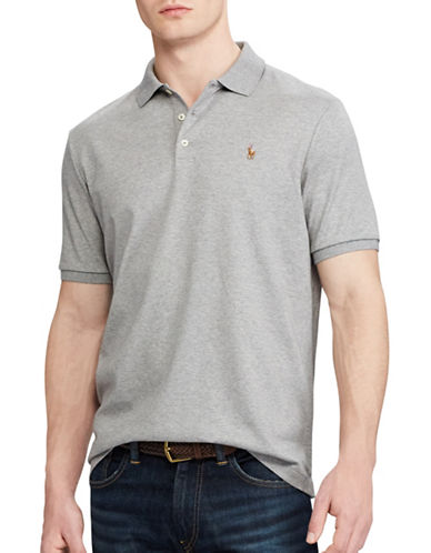 Polo Ralph Lauren Classic Fit Cotton Soft-Touch Polo-STEEL HEATHER-Small