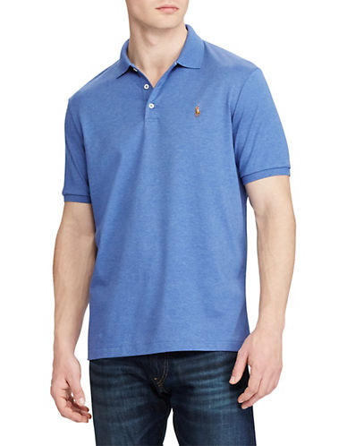 Polo Ralph Lauren Classic Fit Cotton Soft-Touch Polo-FADED ROYAL-Large