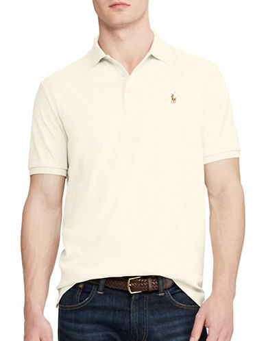 Polo Ralph Lauren Classic Fit Cotton Soft-Touch Polo-AMERICAN HEATHER-Large