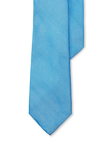 Lauren Green Textured Silk Tie-TURQUOISE-One Size