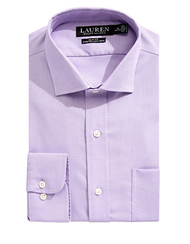Lauren Ralph Lauren Slim-Fit Stretch Dress Shirt-PURPLE-18-34/35