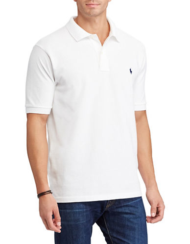 Polo Ralph Lauren Big and Tall Classic-Fit Mesh Cotton Polo-WHITE-4X Tall