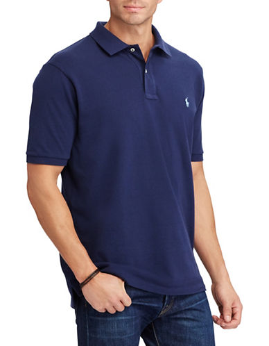 Polo Ralph Lauren Big and Tall Classic-Fit Mesh Cotton Polo-NAVY-Large Tall