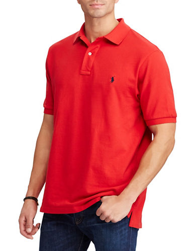 Polo Ralph Lauren Big and Tall Classic-Fit Mesh Cotton Polo-RED-3X Tall