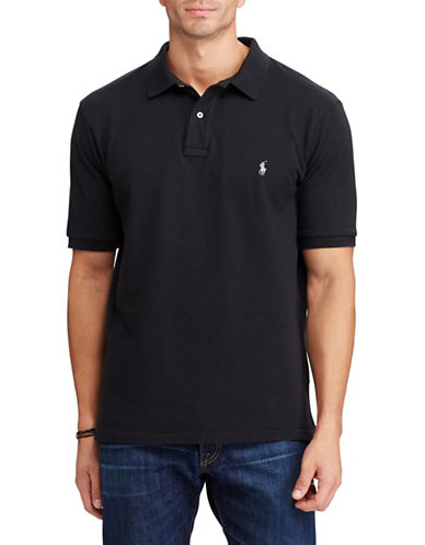 Polo Ralph Lauren Big and Tall Classic-Fit Mesh Cotton Polo-BLACK-2X Tall