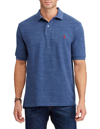 Polo Ralph Lauren Big and Tall Classic-Fit Mesh Cotton Polo-BLUE-1X Tall