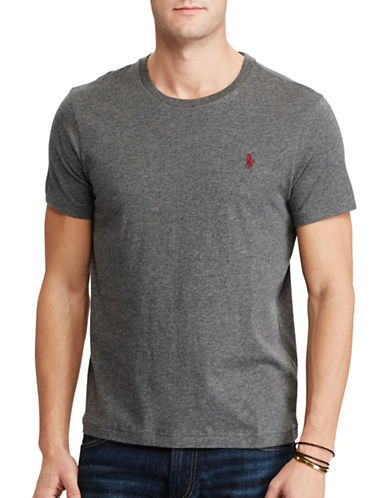 Polo Ralph Lauren Custom-Fit Cotton T-Shirt-STADIUM GREY-X-Large