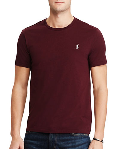 Polo Ralph Lauren Custom-Fit Cotton T-Shirt-RED-X-Large 89286897_RED_X-Large