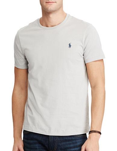 Polo Ralph Lauren Custom-Fit Cotton T-Shirt-LIGHT GREY-Medium