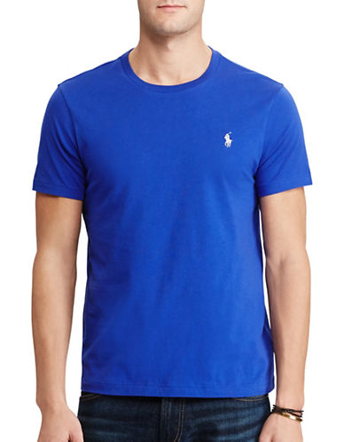 Polo Ralph Lauren Custom-Fit Cotton T-Shirt-REFLEX BLUE-X-Large