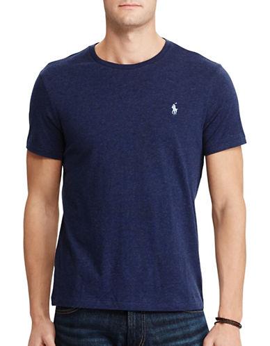 Polo Ralph Lauren Custom-Fit Cotton T-Shirt-NAVY-Small