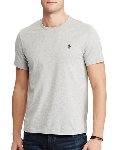 Polo Ralph Lauren Custom-Fit Cotton T-Shirt-GREY-Large