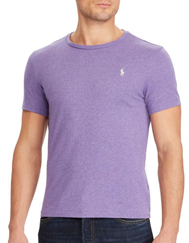 Polo Ralph Lauren Custom-Fit Cotton T-Shirt-PURPLE-Large